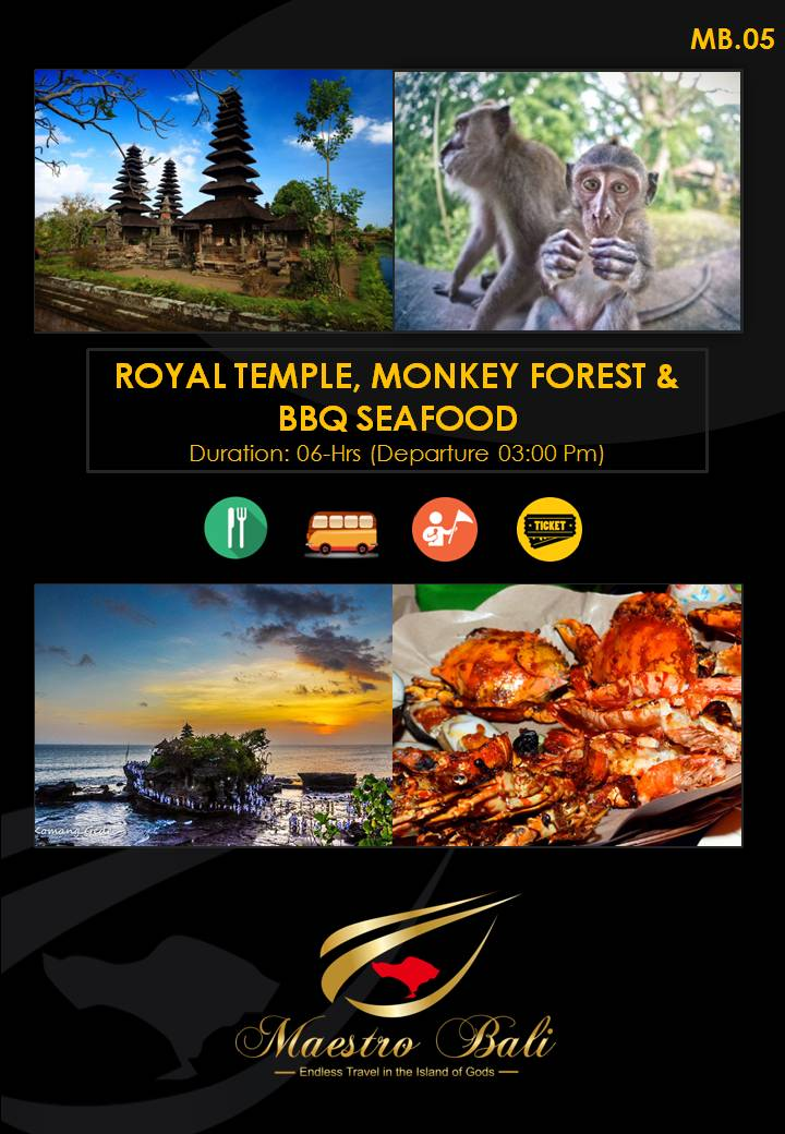 Royal Temple, Monkey Forest & BBQ Seafood