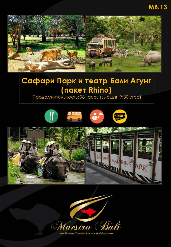Rhino Package & Bali Safari Marine Park